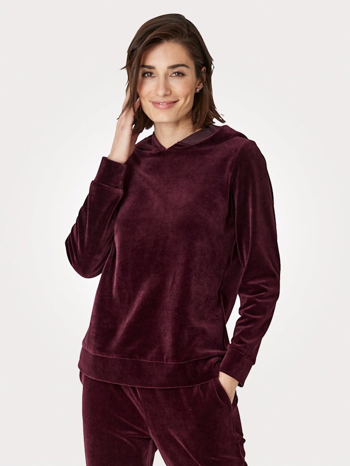 MONA Sweatshirt in Nicki-Qualität, Beere