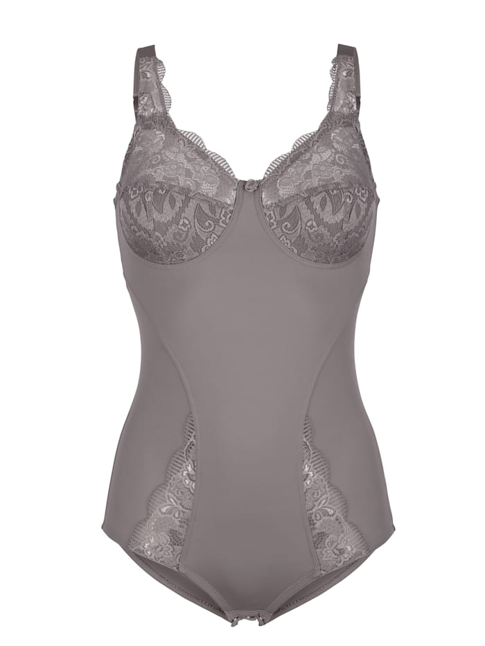 Susa Shapewear Body aus elastischem Material, Grau