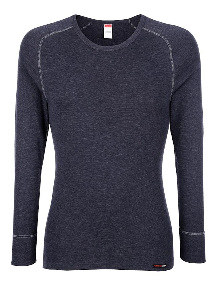Con-ta Langarmshirt mit Thermo-Funktion, Marineblau