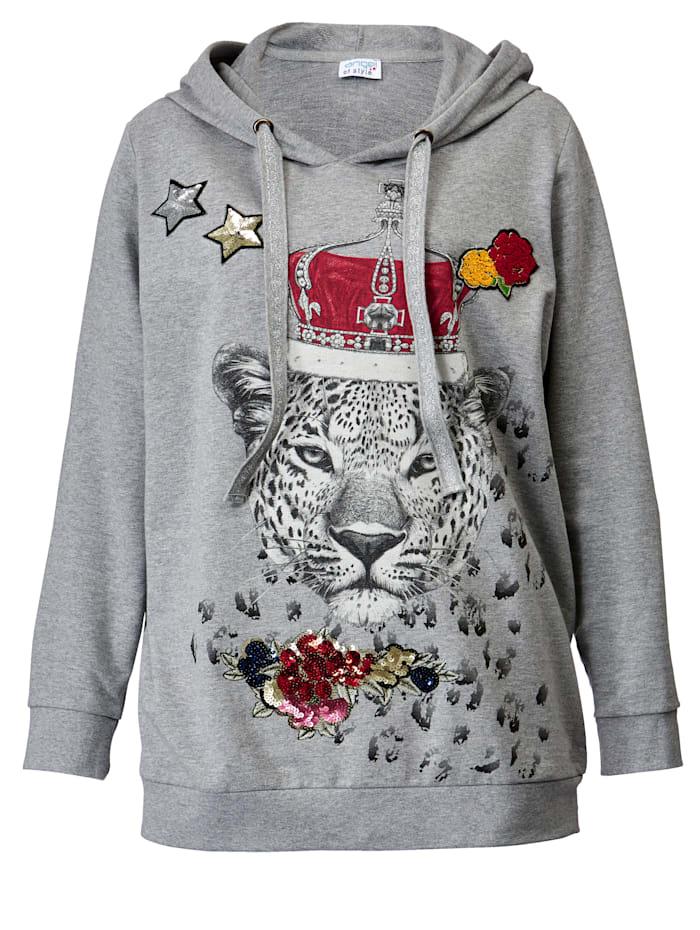 Sweatshirt mit modischem Leopardendruck