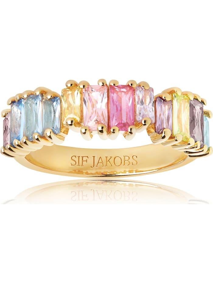 Sif Jakobs Sif Jakobs Jewellery Damen-Damenring 925er Silber Zirkonia, gelbgold