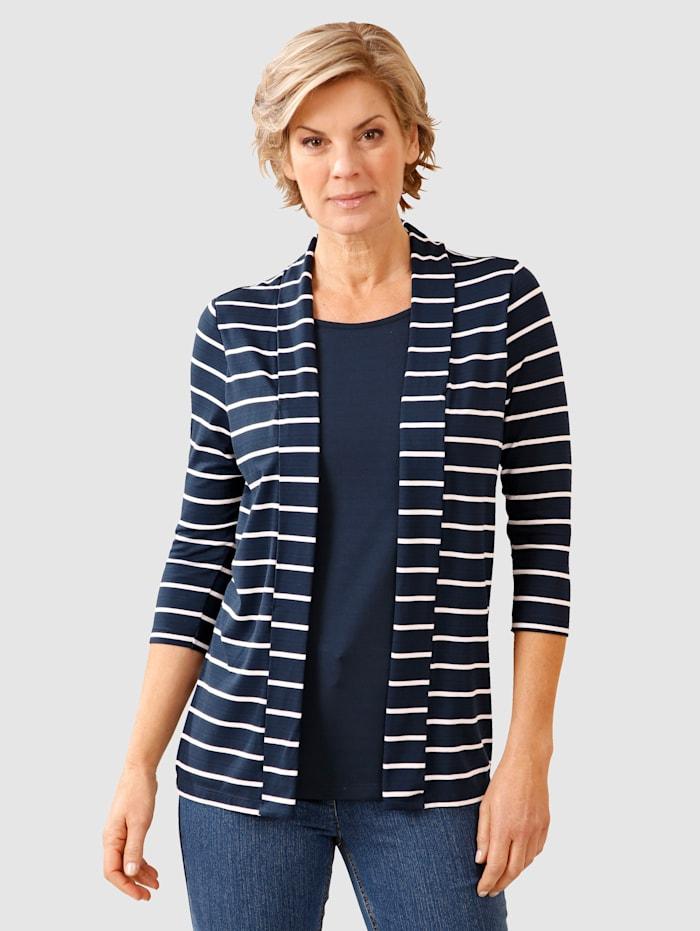 Paola 2-In-1 Top Timeless stripe pattern, Navy