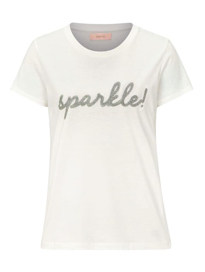 SIENNA T-Shirt mit Caviarprint, Off-white