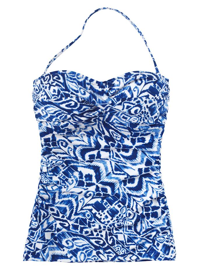 LAUREN Ralph Lauren Tankini-Top, blau-weiß
