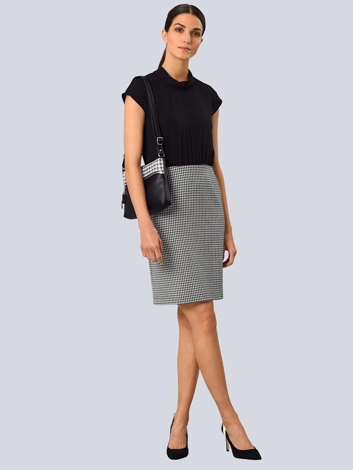 Alba Moda Jurk in 2-delige look, Zwart/Wit