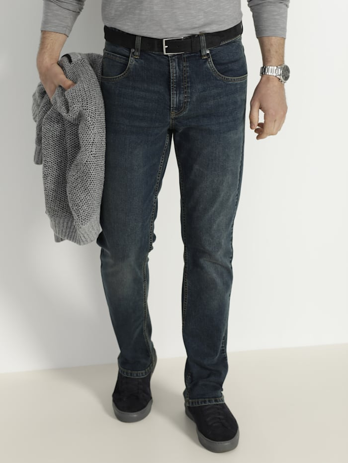 BABISTA Jeans in used look, Donkerblauw