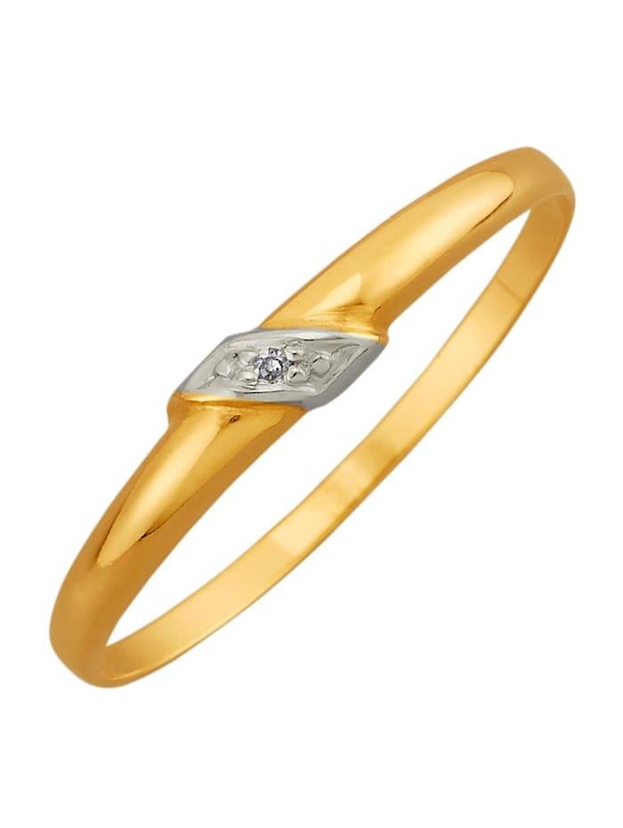 Damenring, 375, Gelbgoldfarben