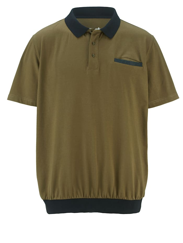 Men Plus Poloshirt Speciale pasvorm, Olijf