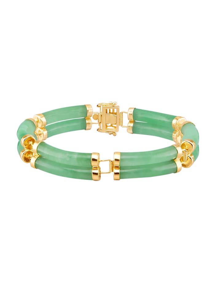Armband av guldfärgat silver 925, Grön