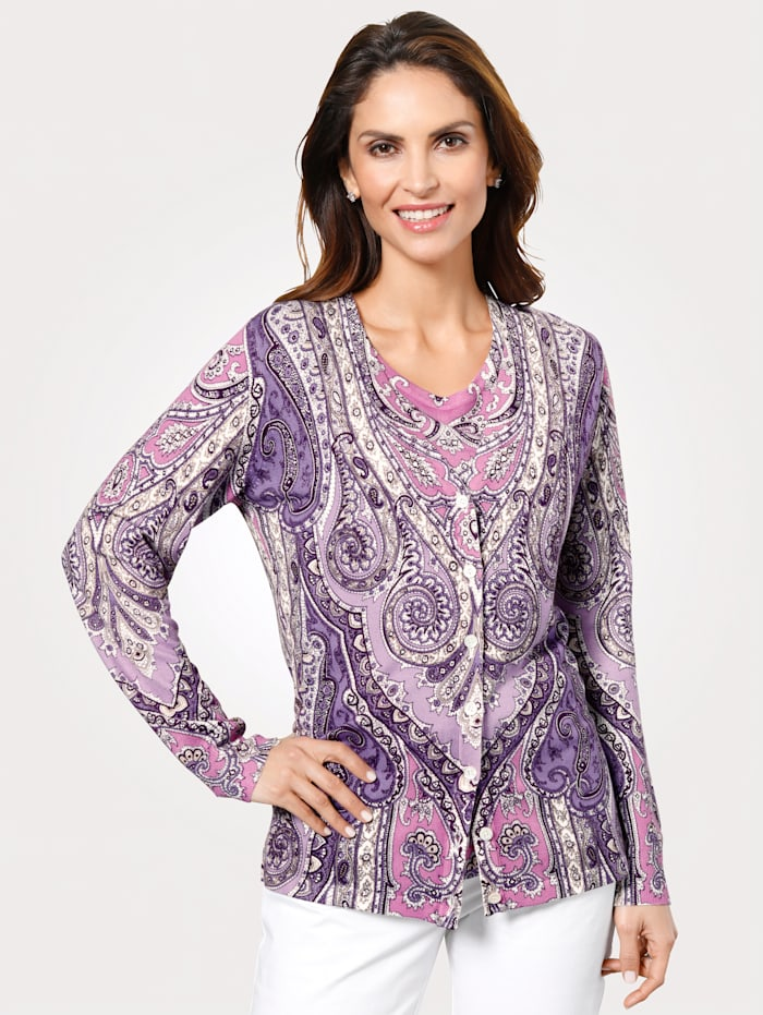 Cardigan with a gorgeous paisley print