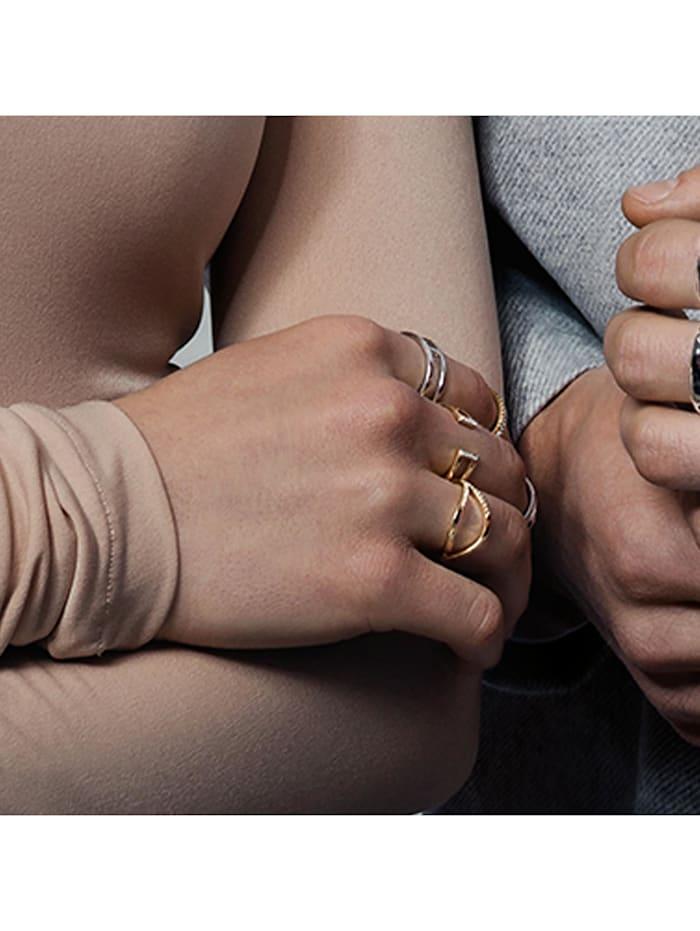 Ring 925/- Sterling Silber Topas weiß Glänzend 0,064ct 925/- Sterling Silber