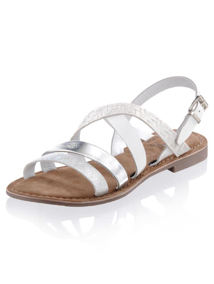 Sandalette mit effektvollen schmalen Riemchen