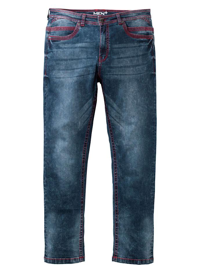 Men Plus Jeans i straight fit, Blue stone