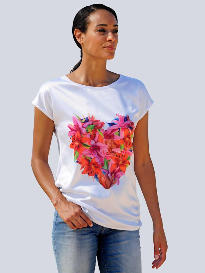 Alba Moda Strandshirt mit Motiv, Weiß