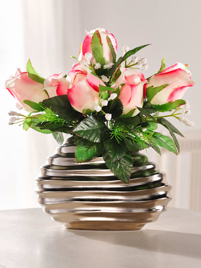 Rosengesteck in Vase, Rosa