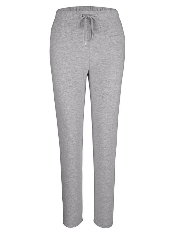 Harmony Pantalon de loisirs en coton confortable, Gris