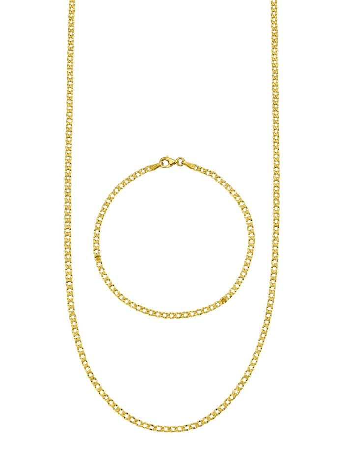 Amara Gold 2tlg. Schmuck-Set in Gelbgold 585, Gelbgoldfarben