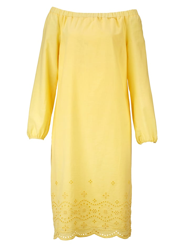 Kleid mit tonigen Stickereien