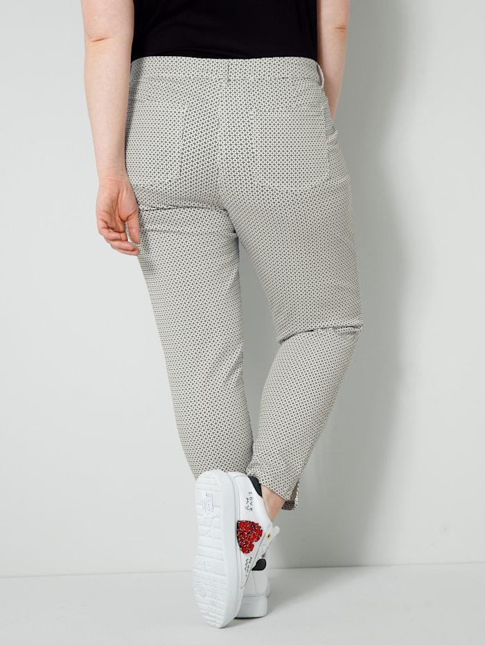 Kalhoty s celoplošným minimalistickým vzorem