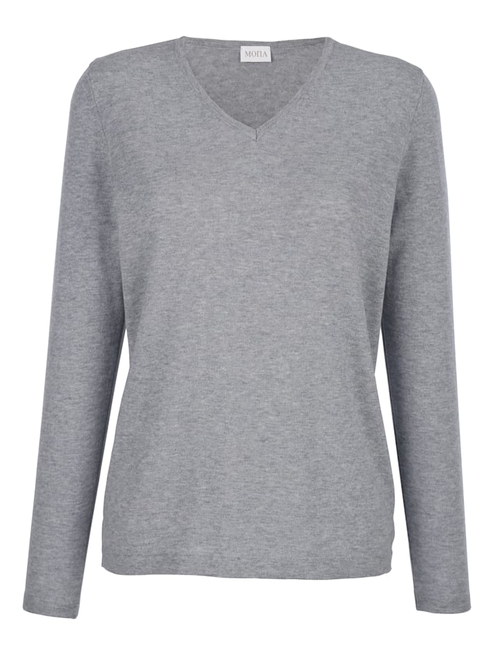 MONA Pullover mit Merino-Wolle, Grau