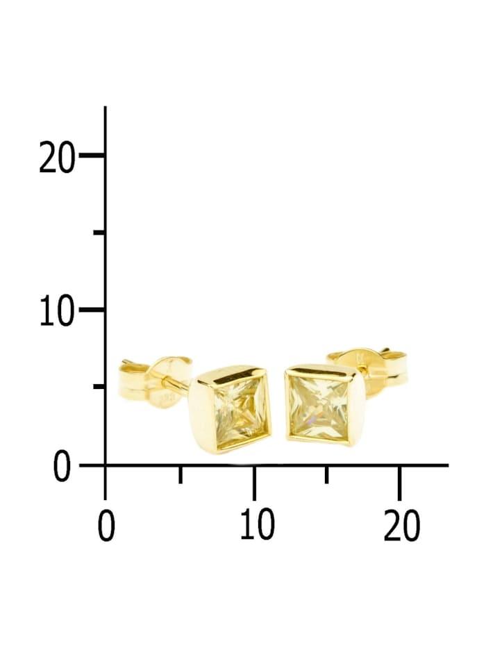 Ohrstecker - Anna 5x5 mm - Gold 333/000 - Zirkonia