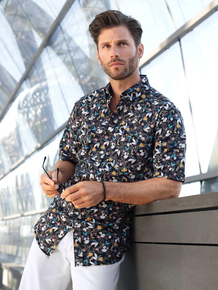 BABISTA Hemd mit floralem Druckmuster, Schwarz