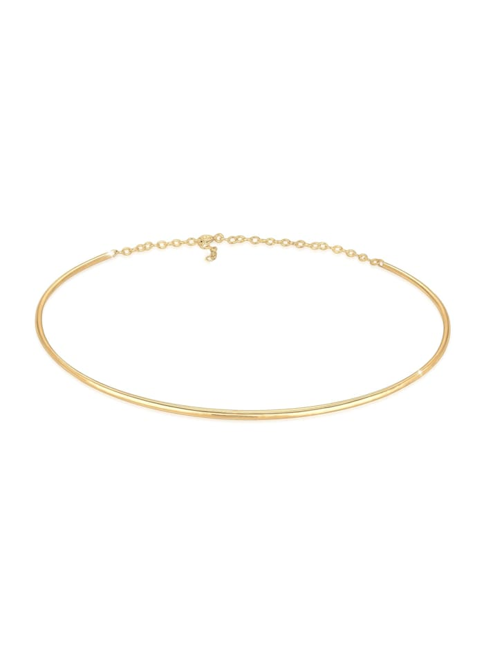 Elli Halskette Choker Cuff Basic Blogger 925Er Silber, Gold