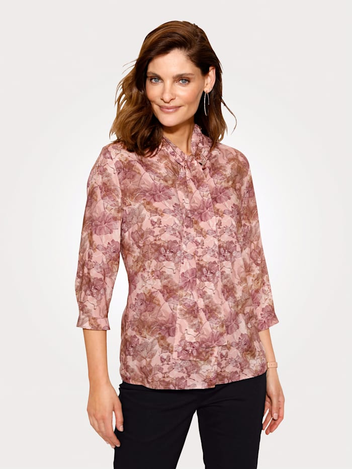 MONA Bluse mit abnehmbarem Schluppe, Rosé/Mauve
