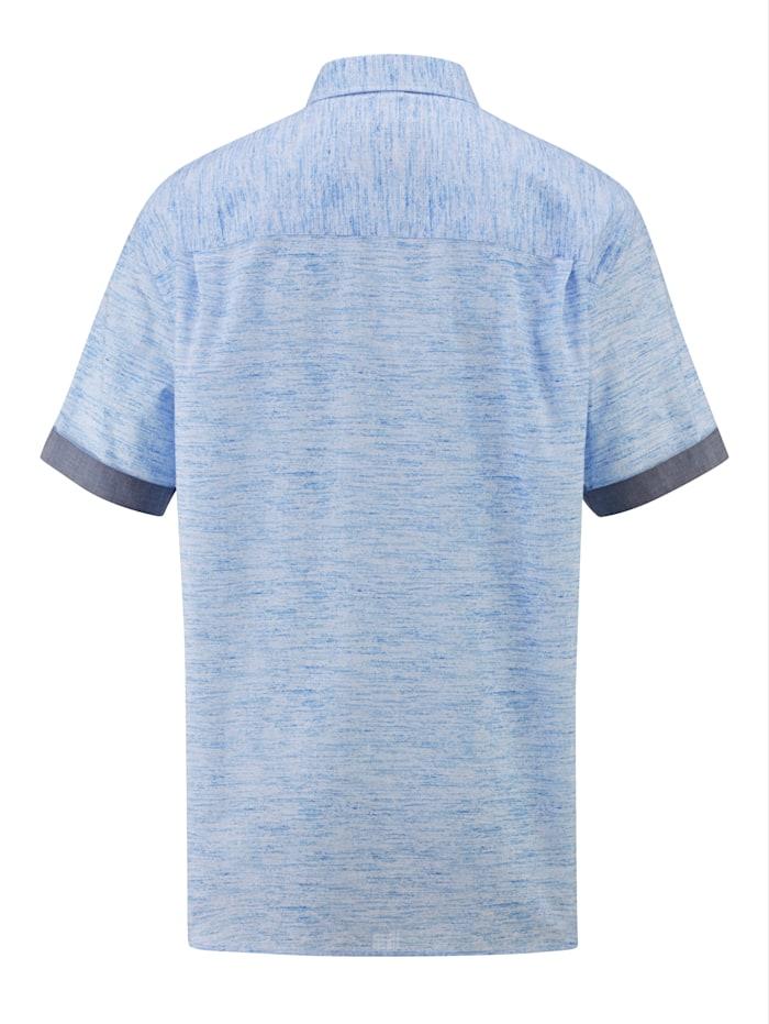 Chemise d'aspect chiné