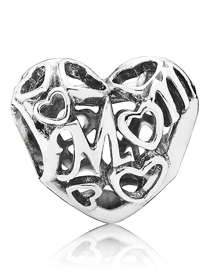 Pandora Charm -Loving Mom-, Weiß