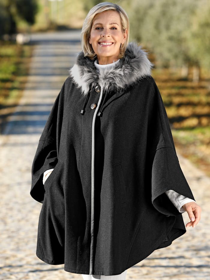 m. collection Jacke in Ponchoform, Anthrazit