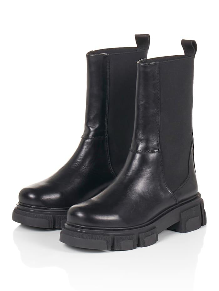 REKEN MAAR Chelsea-Boots, Schwarz