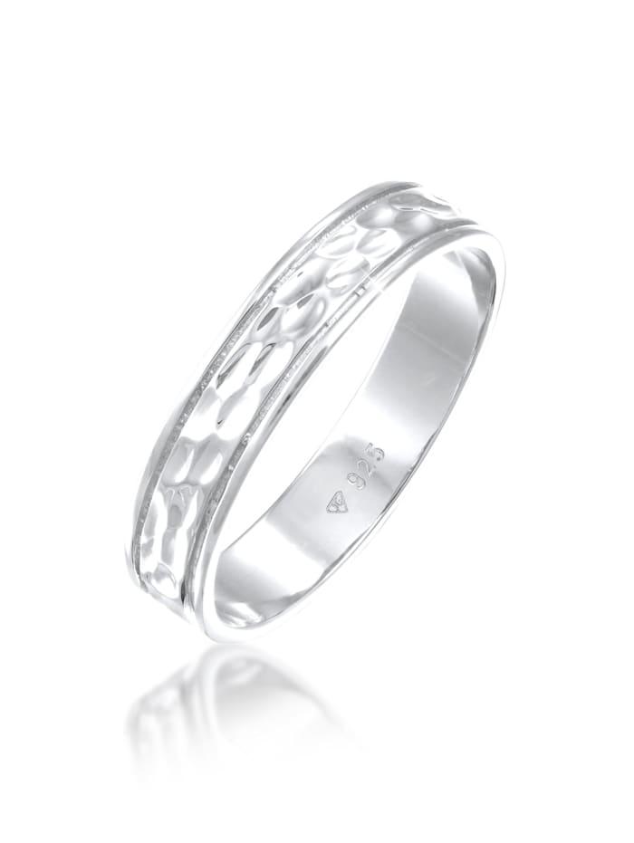 Elli Premium Ring Paarring Bandring Trauring Freundschaft 925 Silber, Silber