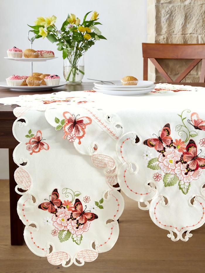 Raebel Linge de table 'Florienne', crème/multicolore