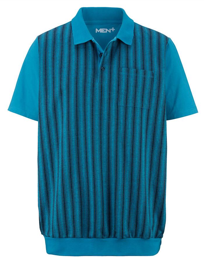 Men Plus Tričko v špeciálnom strihu, Tyrkysová/Námornícka