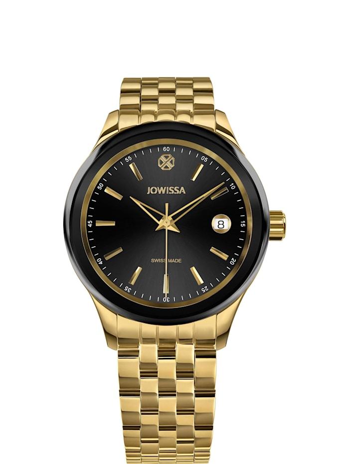Jowissa Quarzuhr Tiro Swiss Made Watch, gold schwarz