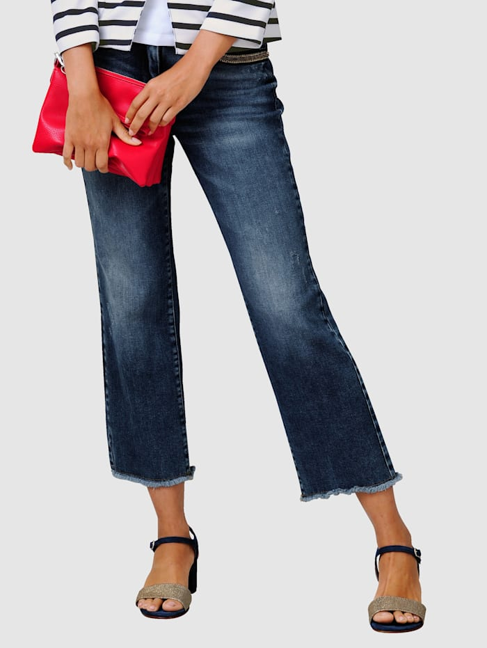 Alba Moda Culotte in modischer Culotte-Form, Blau