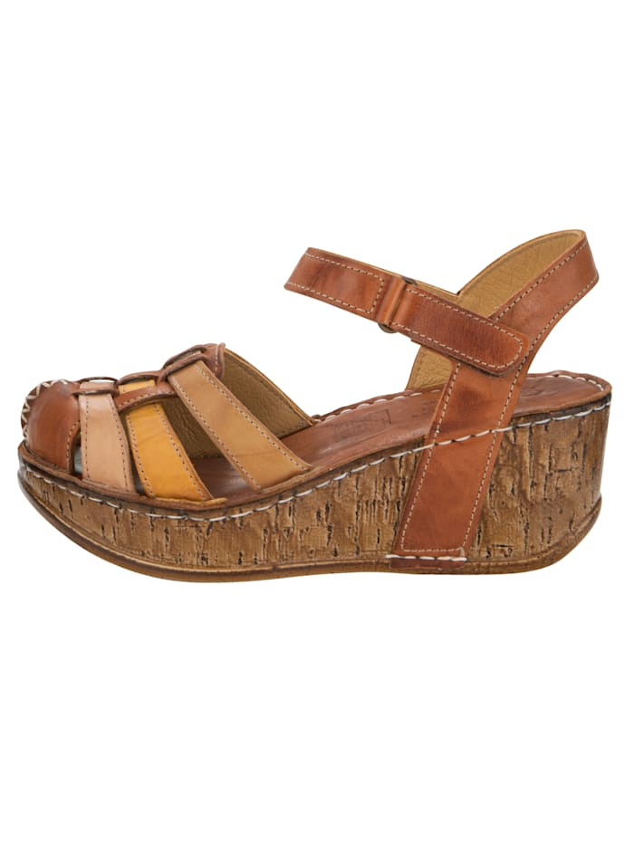 Sandales compensées avec bride arrière auto-agrippante