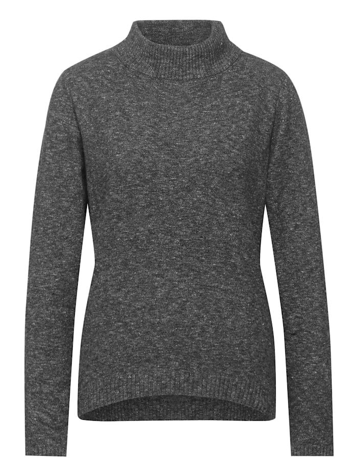 Street One Pullover in Melange-Optik, anthracite melange