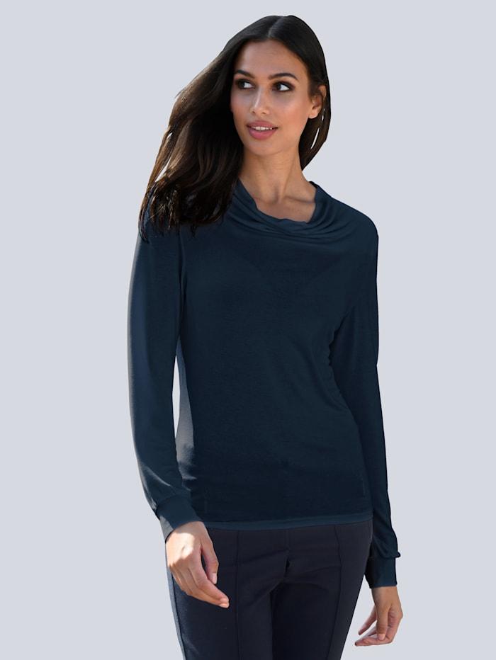 Alba Moda Shirt van zacht materiaal, Marine
