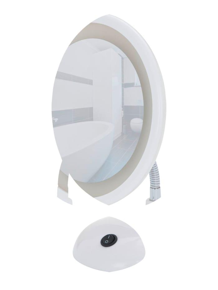 LED Kosmetikspiegel Style Weiß, Standspiegel, 3-fach Vergrößerung