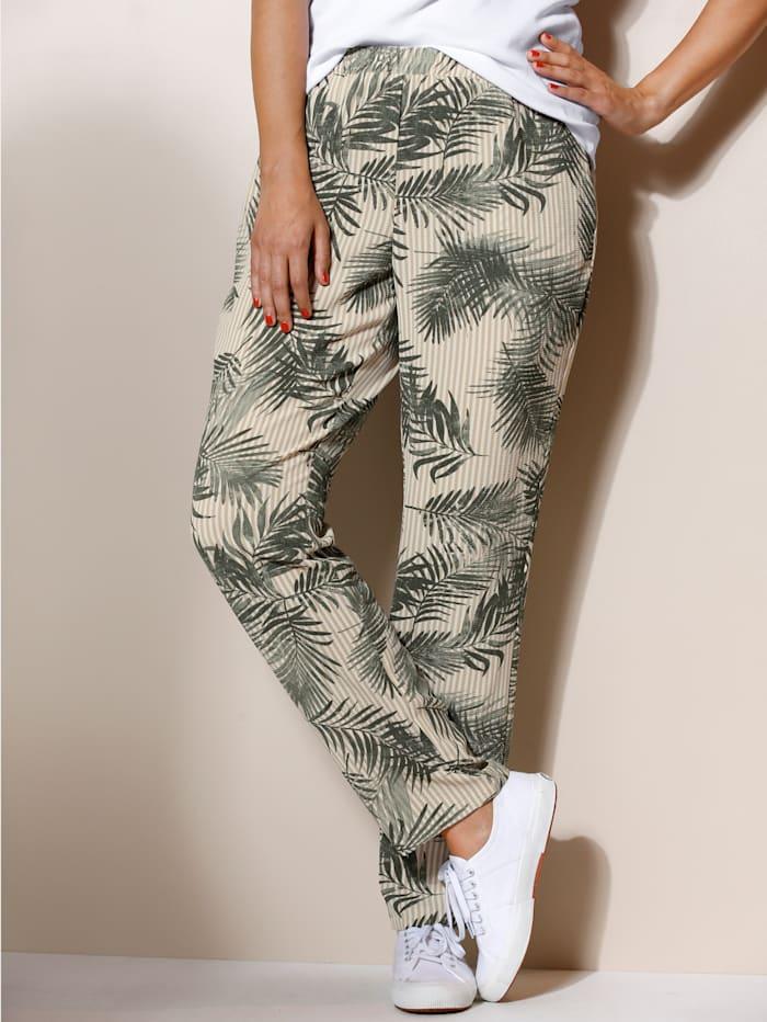 Pantalon en fine matière structurée