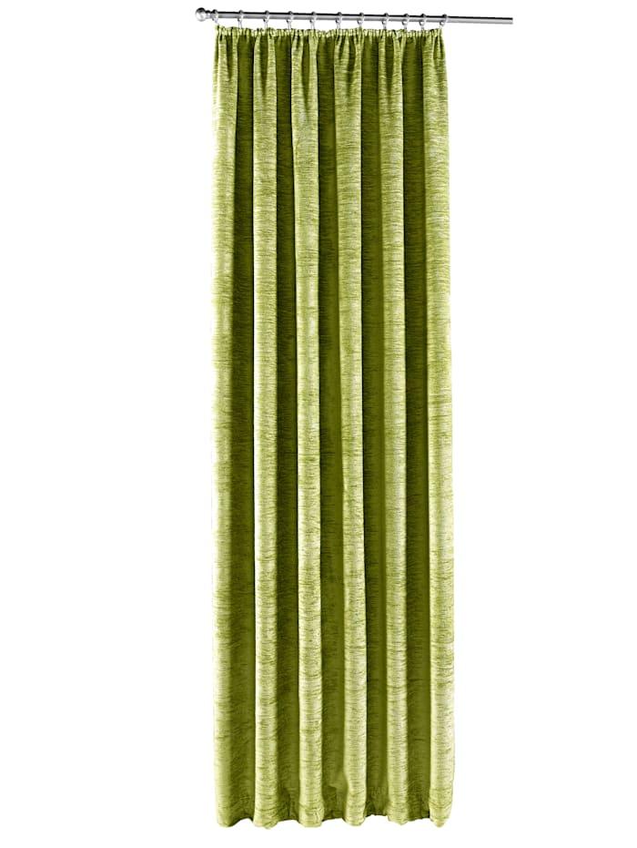 """Wirth Rideau en thermo chenille """"Wart"""", Vert"""