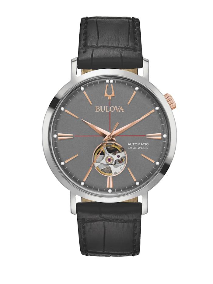 Bulova Herren-Automatikuhr 98A187, Schwarz