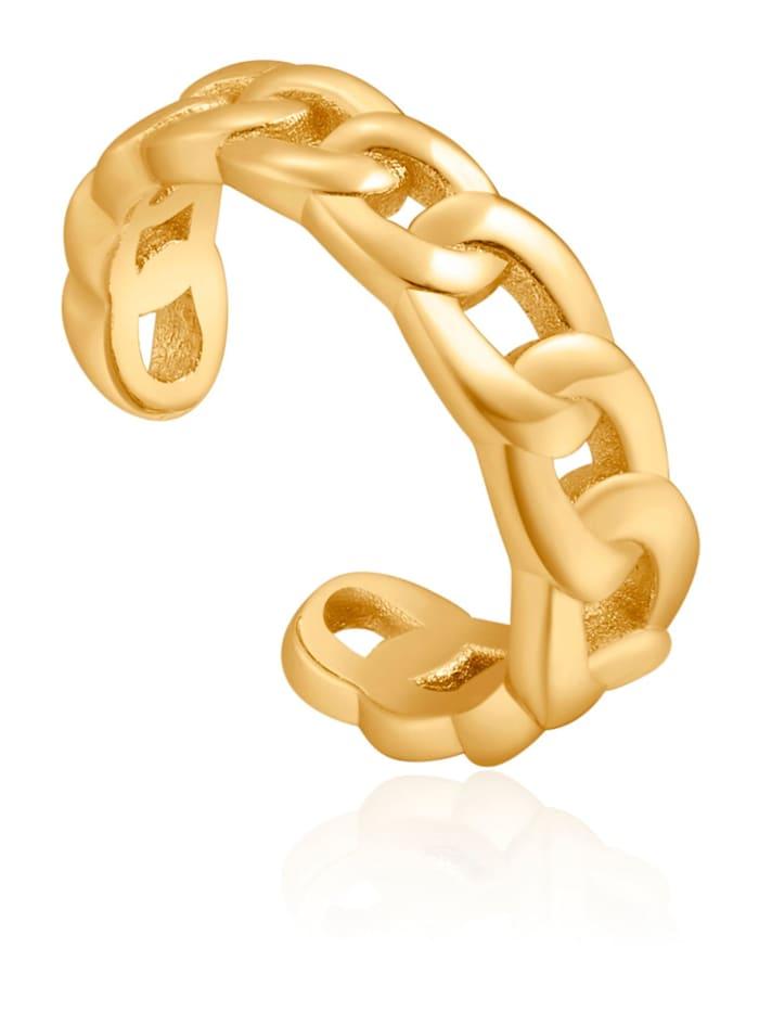 Ania Haie Ania Haie Damen-Einzelner Ohrschmuck Curb Chain Ear Cuff 925er Silber, gold