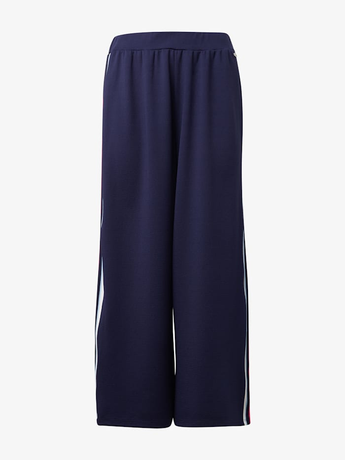 Tom Tailor Denim Culotte mit Galonstreifen, dusky blue