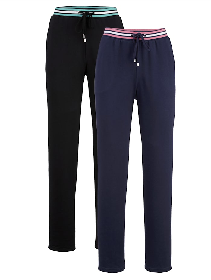 Pantalon de loisirs à bordure rayée tendance Lot de 2
