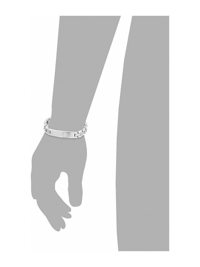 Identarmband für Herren, Edelstahl