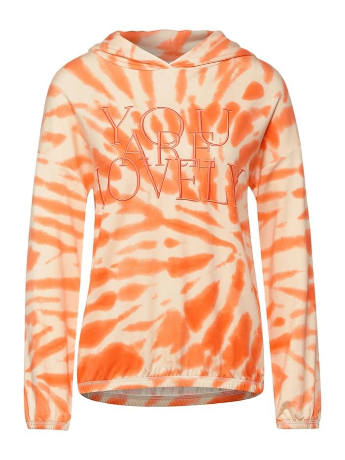 Street One Shirt im Hoodie Style, strong mandarine