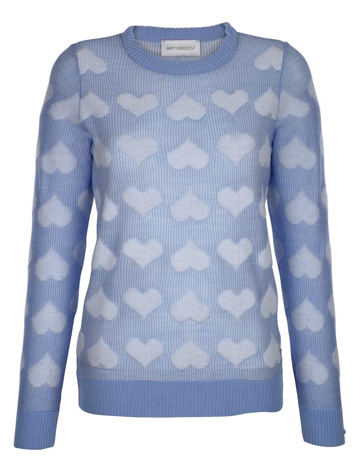 Pullover mit Herz-Motiv allover